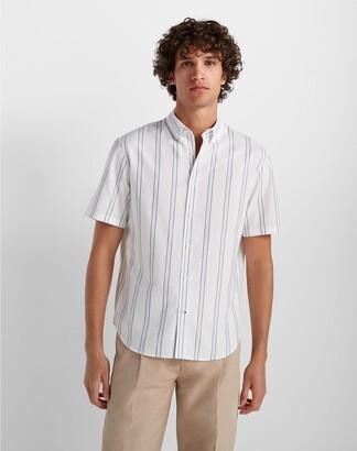 Club Monaco Short Sleeve Deck Stripe Shirt