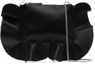 Red(V) Ruffle-Detail Shoulder Bag