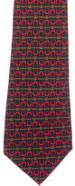 Chanel Silk Horseshoe Print Tie