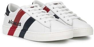 Moncler Enfant Double Stripe Lace-Up Sneakers