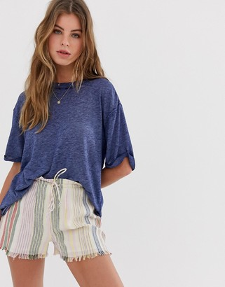 Free People Cassidy core t-shirt-Navy