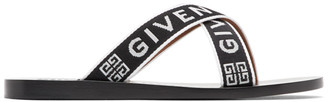 Givenchy Black Logo Cross Sandals