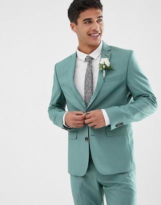 Farah Smart Henderson skinny fit suit jacket in green