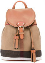 Burberry bucket style backpack