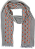 Tory Burch Striped Print Scarf