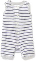 Old Navy Striped Button-Front One-Piece for Baby