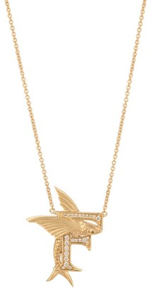 Stephen Webster Yellow Gold and Diamond Fish Tales F Necklace