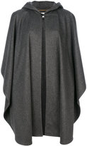 Saint Laurent oversized hooded cape - women - Cotton/Cupro/Virgin Wool - One Size