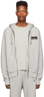 Marcelo Burlon County of Milan Grey Wings Patch Zip Hoodie