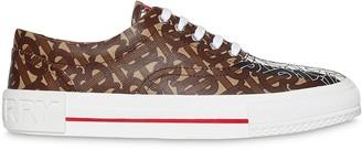 Burberry Monogram Stripe Print E-canvas Sneakers