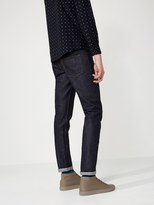 Frank + Oak The Cooper Slim-Straight Selvedge Denim in Dark Indigo