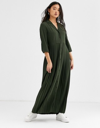 Selected pleated maxi dress