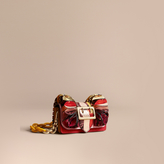 Burberry The Ruffle Buckle Bag in Snakeskin and Calf Leather