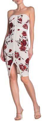 Love, Fire Floral Bustier Bodycon Dress