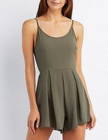 Charlotte Russe Strappy Bow Back Romper