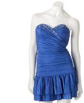 My Michelle strapless surplice dress
