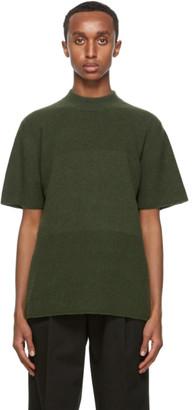 Jacquemus Khaki Mohair Le T-Shirt Maille T-Shirt