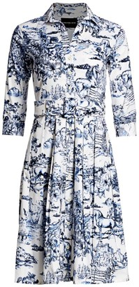 Samantha Sung Audrey Printed Shirtdress