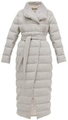 Herno Down Filled Felted Silk Blend Coat - Womens - Light Grey