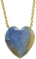 Irene Neuwirth 41.82 Carat Dumortierite in Quartz Heart Necklace