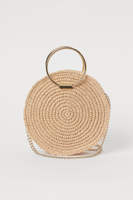 H&M Round Straw Shoulder Bag