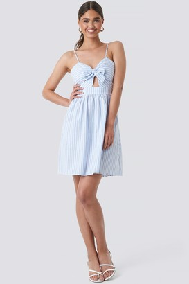 NA-KD Knot Front Cut Out Dress
