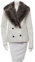 Proenza Schouler Fur-Trimmed Leather Coat