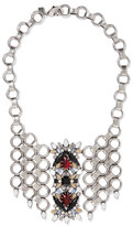 Dannijo Alessio Oxidized Silver-plated Swarovski Crystal Necklace - one size