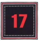 Givenchy '17' silk twill scarf