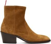 Acne Studios Brown Suede Jesse Boots