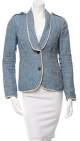Gryphon Linen Fitted Blazer