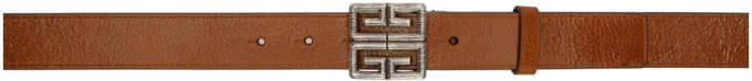 Givenchy Brown 4G Engraved Belt