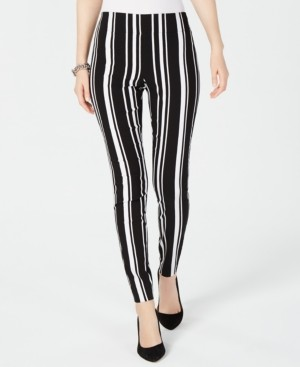 INC International Concepts Inc Pull-On Striped Skinny Pants, Created for Macy's