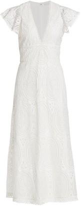ML Monique Lhuillier Eyelet Lace Dress
