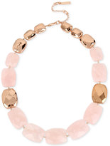 Kenneth Cole New York Rose Gold-Tone Pink Stone Collar Necklace