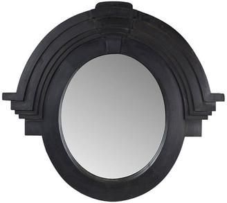Vagabond Vintage Large Architectural Mansard Mirror in Black Finish