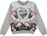 Molo Girl's Magine Sweatshirt - Swans