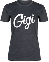 Heather Charcoal 'Gigi' Fitted Tee