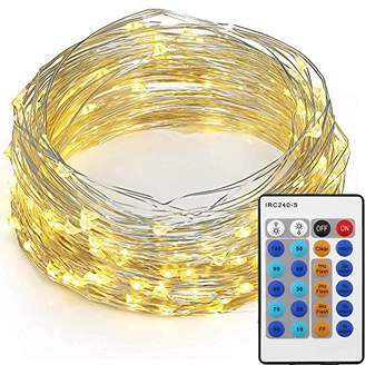 10M 100LED String Lights, Mpow Waterproof Starry Fairy Light Copper Wire Lights Rope Lights for Bedroom, Patio, Party, Christmas Tree, Decorations (Warm White, Remote Control)