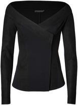Donna Karan New York Leather Trimmed Jacket in Black