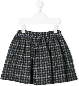 Douuod Kids Houndstooth Print Skirt