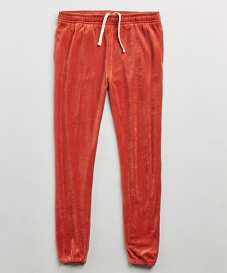Todd Snyder Velour Classic Fit Sweatpant in Tomato Red