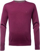 Tommy Hilfiger Men's Plaited cotton silk jumper