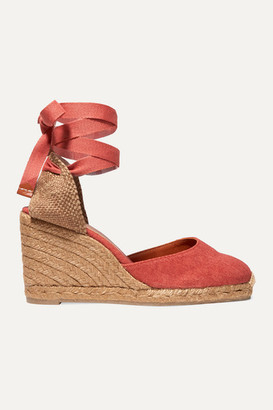 Castaner Carina 80 Canvas Wedge Espadrilles - Brick