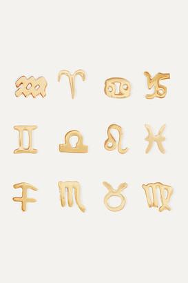 Stone And Strand Zodiac 14-karat Gold Earring