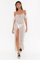 Nasty Gal Womens Sorry Plant Go Floral Cover-Up Dress - white - 8