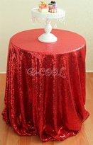 """B-COOL 90"""" Round sequin tablecloth weeding/banquet/party decoration"""