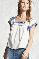 Forever 21 FOREVER 21+ Contemporary Embroidered Top