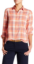 J.Crew Factory J. Crew Factory Long Sleeve Plaid Gauze Shirt