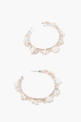 Forever 21 Beaded Hoop Earrings